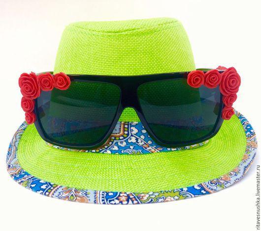 Очки ручной работы. Ярмарка Мастеров - ручная работа. Купить Солнцезащитные очки. Handmade. Разноцветный, пляжная мода, очки