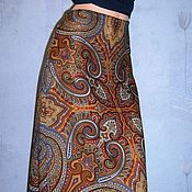 """Одежда ручной работы. Ярмарка Мастеров - ручная работа Юбка-миди из павловопосадского платка """"Классический"""". Handmade."""