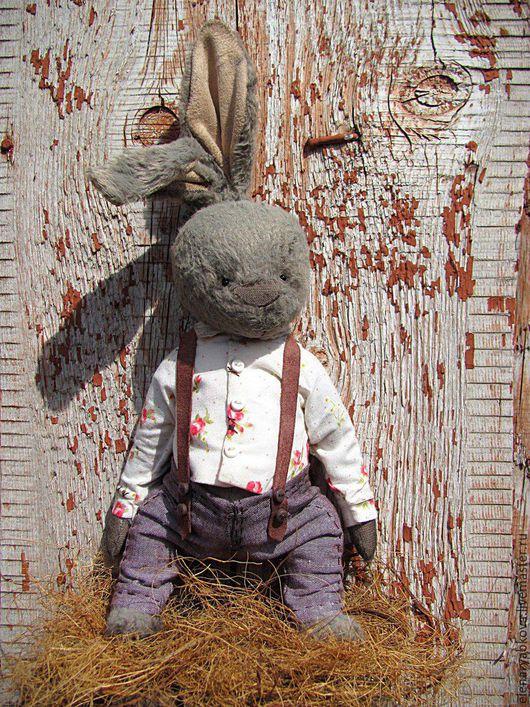 Мишки Тедди ручной работы. Ярмарка Мастеров - ручная работа. Купить Заяц Тимофей. Handmade. Мишка, мишка в одежке