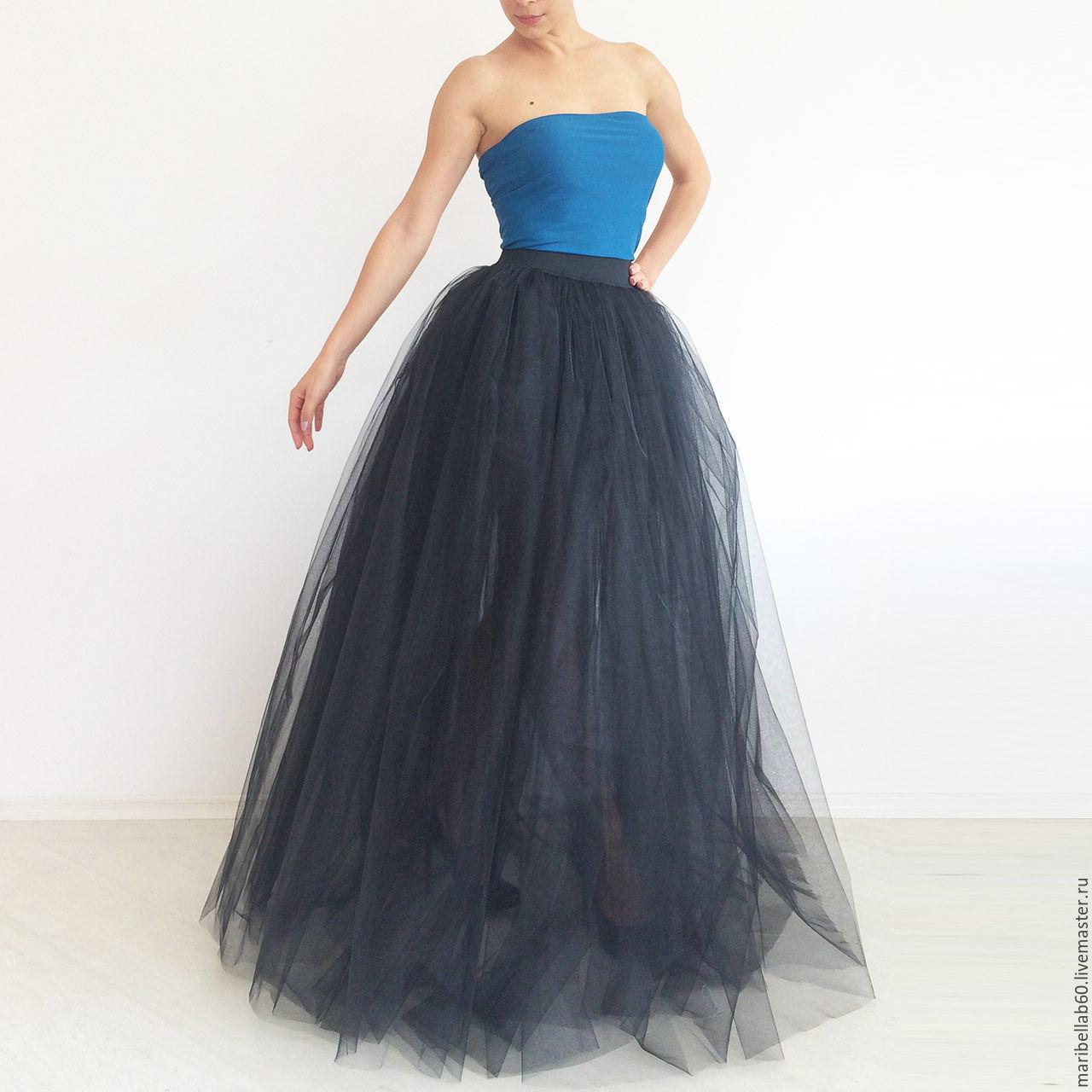 Длинная юбки из фатина фото 81