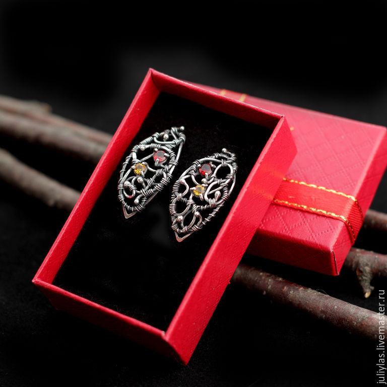 Earrings silver, beautiful silver jewelry for women, Earrings, Mezhdurechensk,  Фото №1
