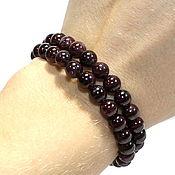Украшения handmade. Livemaster - original item Two-row bracelet natural garnet. Handmade.