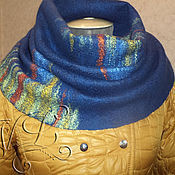 Аксессуары handmade. Livemaster - original item --30 % Scarf - Snood felted