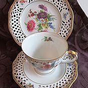 Винтаж handmade. Livemaster - original item TEA and COFFEE TRIO Vintage Porcelain Bavaria Arabella EXT. condition. Handmade.
