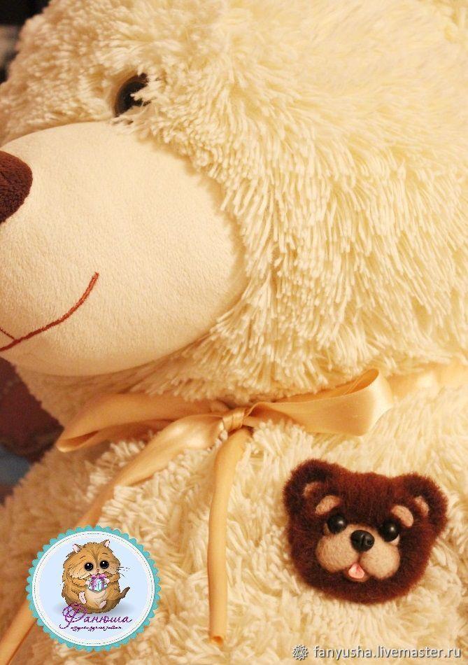 """Брошка""""Шоколадный медвежонок"""""""