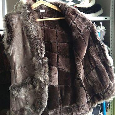 Одежда ручной работы. Ярмарка Мастеров - ручная работа Кожаный меховой жилет 50-52.Овчина. Handmade.