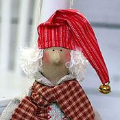 Куклы и игрушки ручной работы. Ярмарка Мастеров - ручная работа Рождественский Гном Сплюша - кукла тильда ручной работы. Handmade.