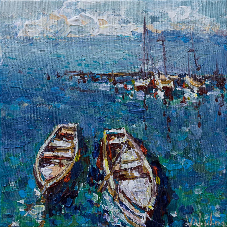 """""""Лодки"""". Морской пейзаж  акрилом, Pictures, Anapa,  Фото №1"""