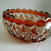 Винтаж handmade. Livemaster - original item Vase-rook, yellow, amber colored glass. Art Deco. 1920. Handmade.