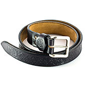 Аксессуары manualidades. Livemaster - hecho a mano Leather belt with ornament Maori. Handmade.
