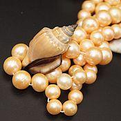 Материалы для творчества handmade. Livemaster - original item Natural pearls Golden yellow beads AAA grade. Handmade.