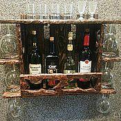 Для дома и интерьера ручной работы. Ярмарка Мастеров - ручная работа Полка для вина №2. Handmade.