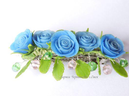Заколки ручной работы. Ярмарка Мастеров - ручная работа. Купить Заколка с розами. Handmade. Заколка с розами, заколка ручной работы