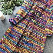 Пальто ручной работы. Ярмарка Мастеров - ручная работа Пальто с вязаными узорами на спинке.. Handmade.