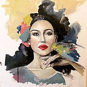 Картины и панно ручной работы. Ярмарка Мастеров - ручная работа Портрет Моники Белуччи. Handmade.