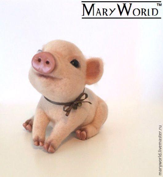 """Игрушки животные, ручной работы. Ярмарка Мастеров - ручная работа. Купить """" Mini Pig"""". Handmade. Кремовый, пластика"""