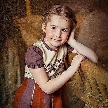 Работы для детей, ручной работы. Ярмарка Мастеров - ручная работа Платье летнее Барышня -2. Handmade.