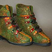 Обувь ручной работы. Ярмарка Мастеров - ручная работа Ботинки Настроение повтор. Handmade.
