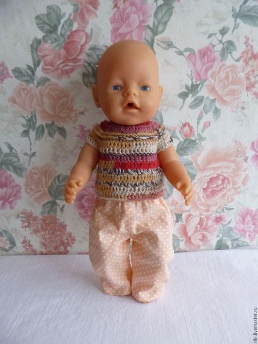 Одежда для кукол ручной работы. Ярмарка Мастеров - ручная работа. Купить Комплект для куклы-пупса Беби Бона (брючки, кофточка) 2. Handmade.
