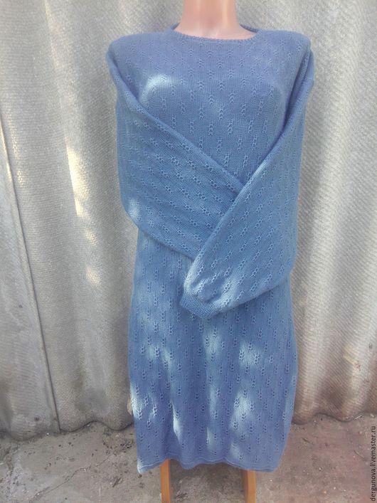 Платья ручной работы. Ярмарка Мастеров - ручная работа. Купить Платье. Handmade. Синий, женская одежда
