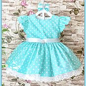 Работы для детей, ручной работы. Ярмарка Мастеров - ручная работа Детское платье модель Alisia. Handmade.