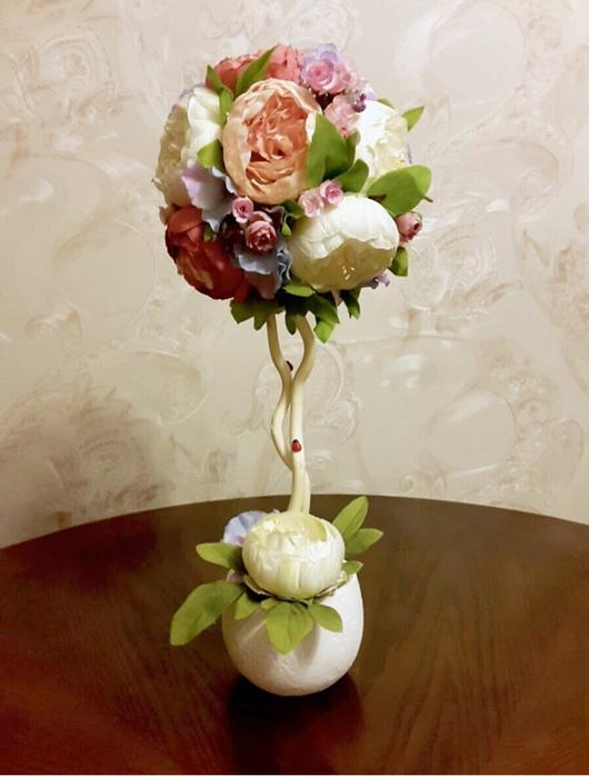 """Топиарии ручной работы. Ярмарка Мастеров - ручная работа. Купить Топиарий """"Нежность пионов"""". Handmade. Топиарий из цветов, цветочная композиция"""