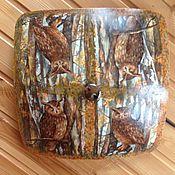 Для дома и интерьера ручной работы. Ярмарка Мастеров - ручная работа Совы в лесу. Светильник потолочный/ настенный. Handmade.