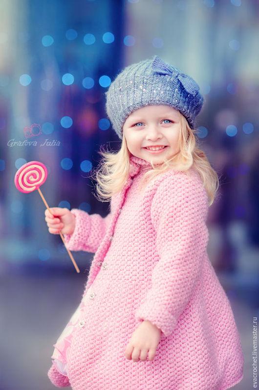 """Одежда для девочек, ручной работы. Ярмарка Мастеров - ручная работа. Купить Пальто для девочки """"Апрель"""". Handmade. Розовый, пальто на заказ"""