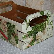 Для дома и интерьера ручной работы. Ярмарка Мастеров - ручная работа Средняя корзинка для лука и чеснока. Handmade.