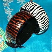 """Украшения ручной работы. Ярмарка Мастеров - ручная работа деревянный браслет  """"тигр"""". Handmade."""