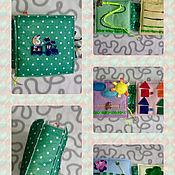 Куклы и игрушки ручной работы. Ярмарка Мастеров - ручная работа детская развивающая книга из фетра. Handmade.