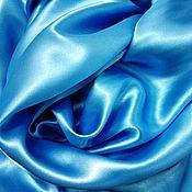 Материалы для творчества ручной работы. Ярмарка Мастеров - ручная работа Атлас голубой. Handmade.