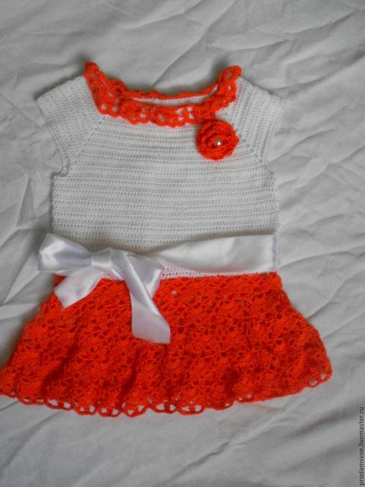 """Одежда для девочек, ручной работы. Ярмарка Мастеров - ручная работа. Купить Платье """"Модняшка"""". Handmade. Комбинированный, атласная лента"""
