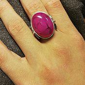 Кольца ручной работы. Ярмарка Мастеров - ручная работа Серебряное кольцо с агатом. Handmade.