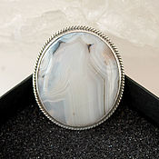 Украшения handmade. Livemaster - original item Brooch Noon made of natural agate and 925 sterling silver PS0052. Handmade.