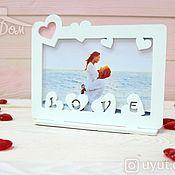 Подарки к праздникам handmade. Livemaster - original item Photo Frame Love. Handmade.