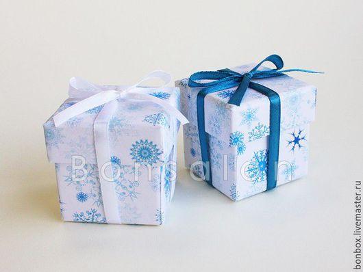 Подарочная упаковка ручной работы. Ярмарка Мастеров - ручная работа. Купить Новогодняя коробка 5х5х5 см.. Handmade. Бонбоньерка, коробочка