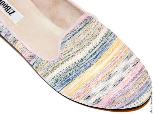 Обувь ручной работы. Ярмарка Мастеров - ручная работа. Купить Лоферы Raduga. Handmade. Розовый, туфли женские