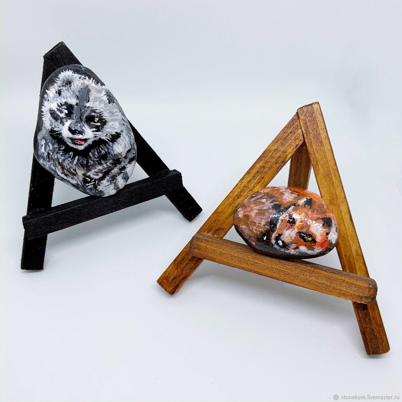 с изображением лисы и енота, Камни, Павлодар,  Фото №1