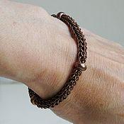 Украшения handmade. Livemaster - original item Bracelet chainmail copper color Bergerac. Handmade.