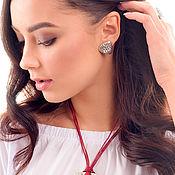 handmade. Livemaster - original item Earrings Majority (Zinnia). Handmade.