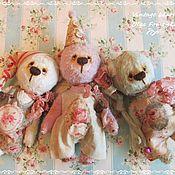 Куклы и игрушки ручной работы. Ярмарка Мастеров - ручная работа Мишка-ангел Ладошкин лавандовый 15 см. Handmade.