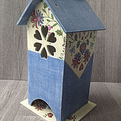 Для дома и интерьера ручной работы. Ярмарка Мастеров - ручная работа чайный домик для чая Джинс  декупаж. Handmade.