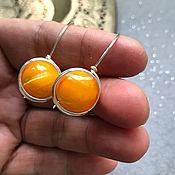 Украшения handmade. Livemaster - original item Yellow earrings made of mother - of-pearl-Venus. Handmade.