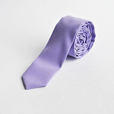 Аксессуары ручной работы. Ярмарка Мастеров - ручная работа Однотонный сиреневый галстук для свадьбы в сиреневом цвете. Handmade.