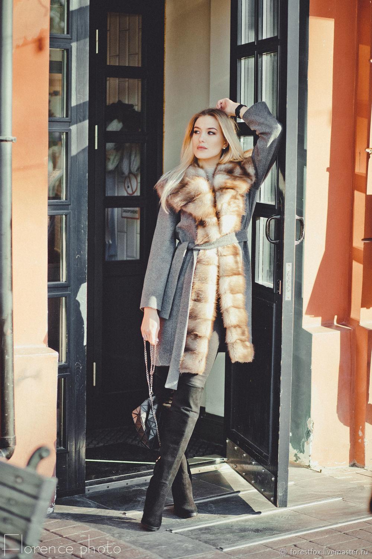 Верхняя одежда ручной работы. Ярмарка Мастеров - ручная работа. Купить  Зимнее пальто с мехом ... 7591f7e67839d