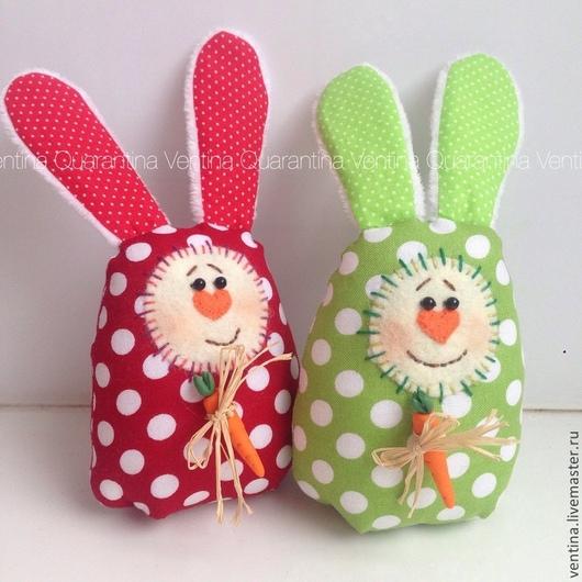 Подарки на Пасху ручной работы. Ярмарка Мастеров - ручная работа. Купить Пасхальные зайцы с морковкой. Handmade. Разноцветный, пасхальный заяц
