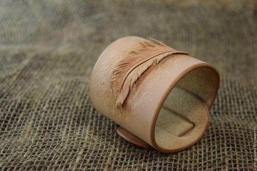 Браслеты ручной работы. Ярмарка Мастеров - ручная работа. Купить Браслет -  перо. Handmade. Браслет, перо, leatherwork
