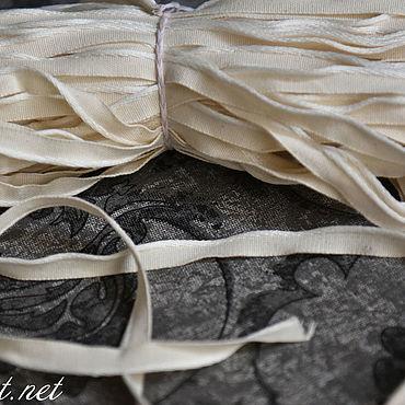Материалы для творчества ручной работы. Ярмарка Мастеров - ручная работа 3022L льняной кант отбелённый. Handmade.