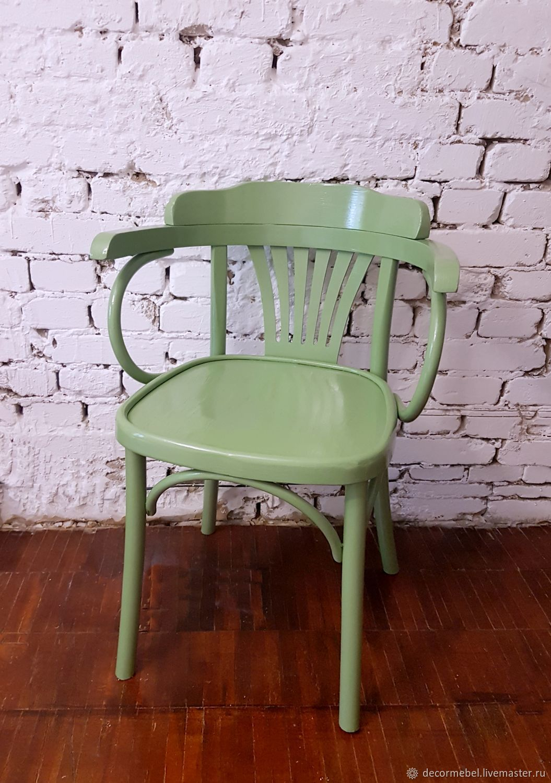 Венское кресло стул с подлокотниками зеленое, Стулья, Москва, Фото №1